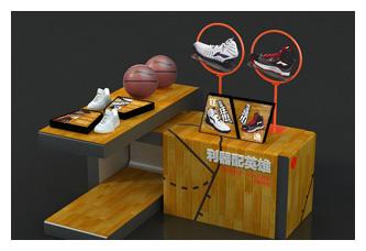 李宁篮球系列道具设计 李宁旗舰店冷光片设计 李宁羽毛球推广橱窗设计图片